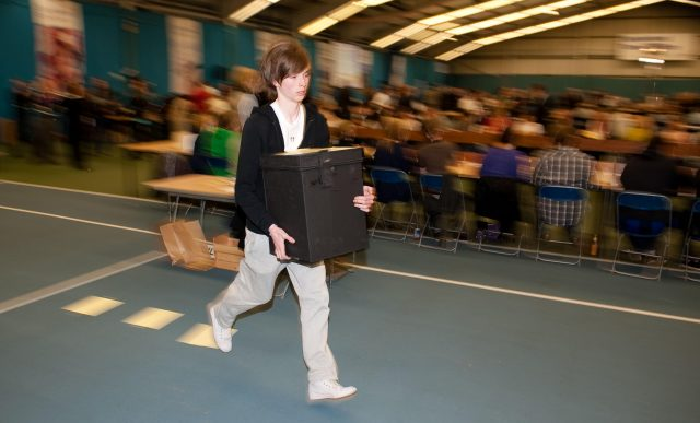 General election: Volunteers race to be first to finish count
