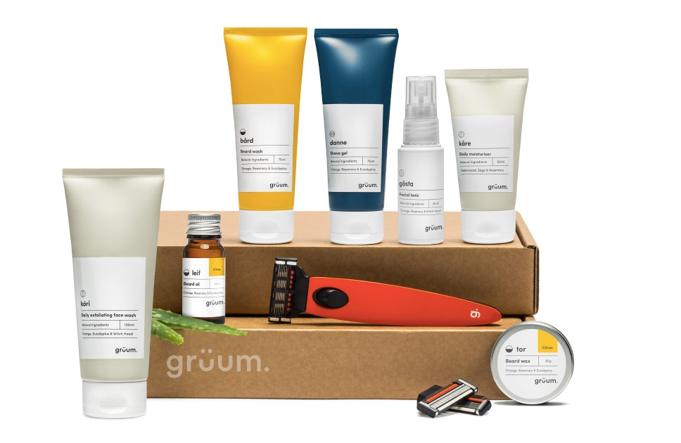Gruum subscription box with products