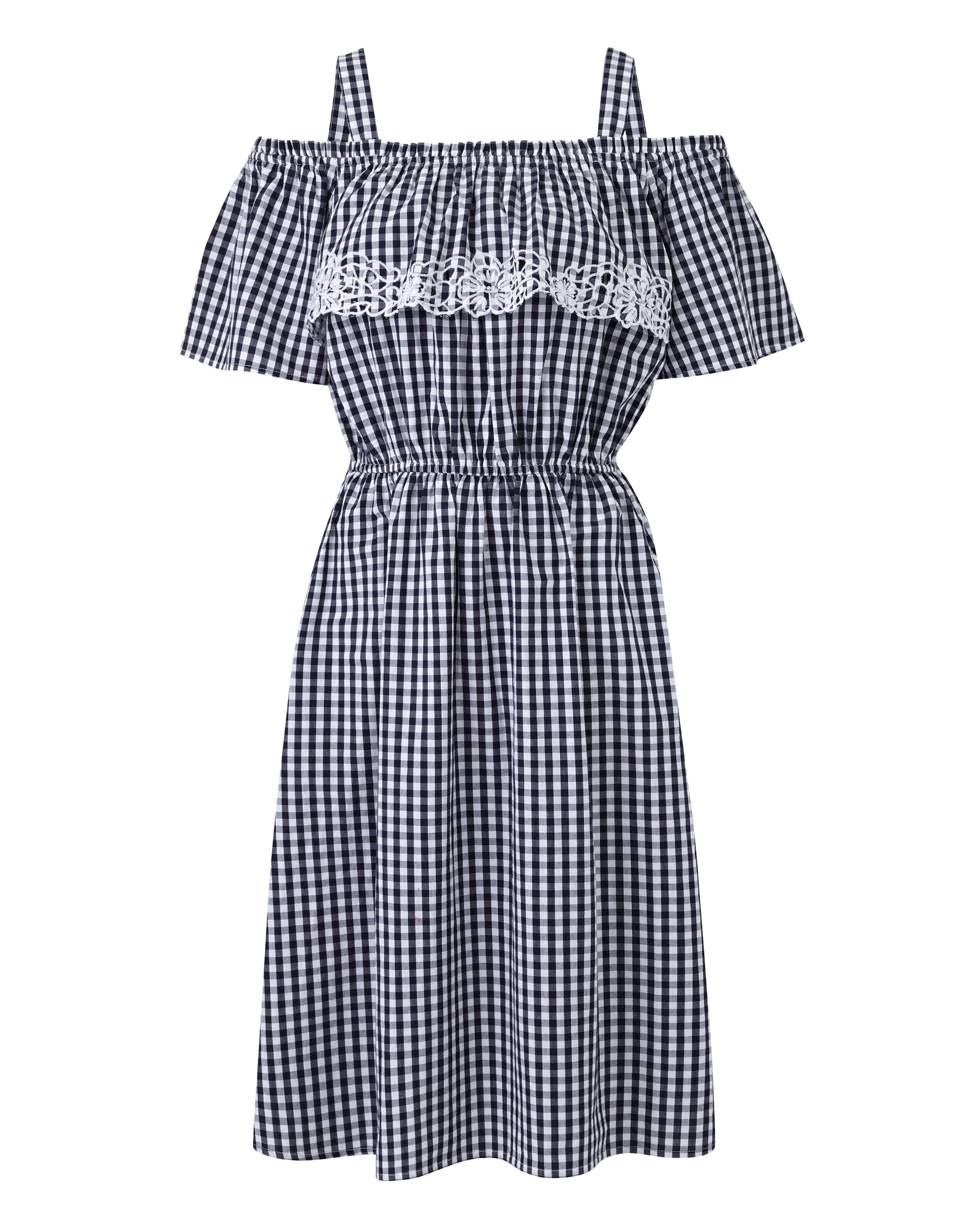 simplybe gingham bardot dress (SimplyBe/PA)