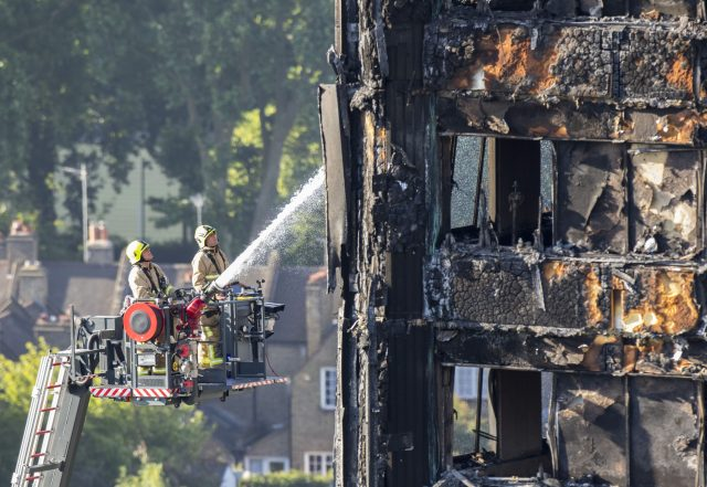 Firefighter remembers Grenfell Tower children screaming for help