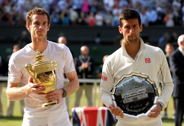Andy Murray and Novak Djokovic at SW19. (Adam Davy/PA)