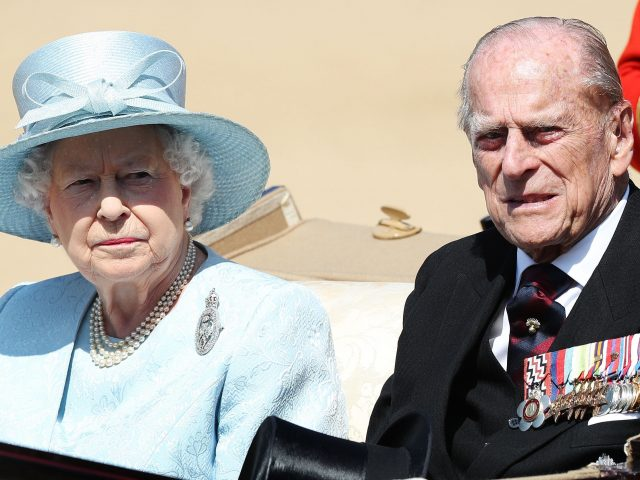 The Queen and Duke of Edinburgh during Trooping the Colour (Jonathan Brady/PA)