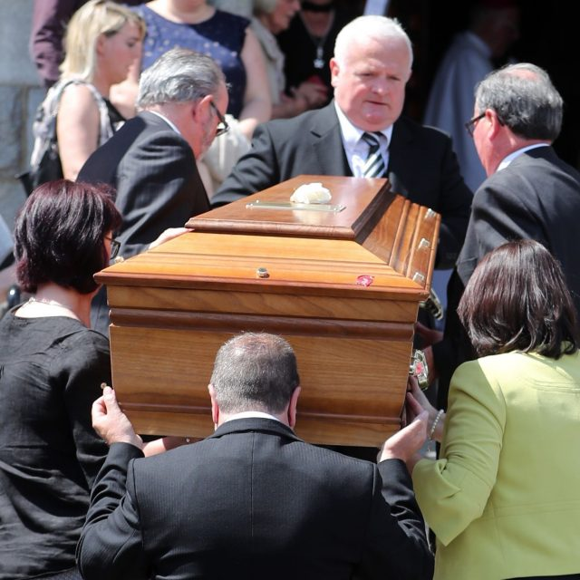 The funeral took place in Newry (Niall Carson/PA)