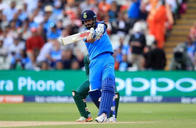 India's Virat Kohli in action during the ICC Champions Trophy, semi-final match at Edgbaston, Birmingham.