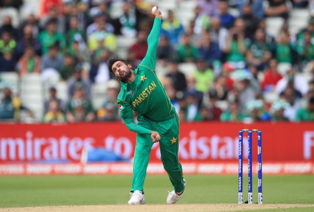 Pakistan's Mohammad Amir in bowling action