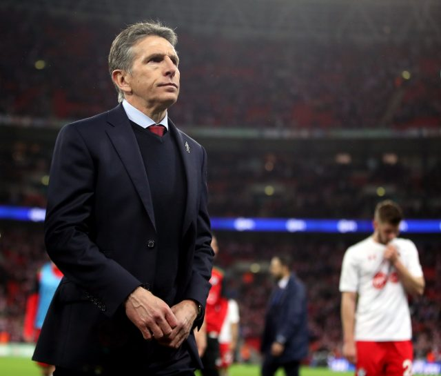 Claude Puel after the League Cup final defeat to Manchester United