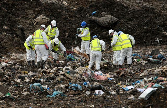 Police search a landfill site in Milton