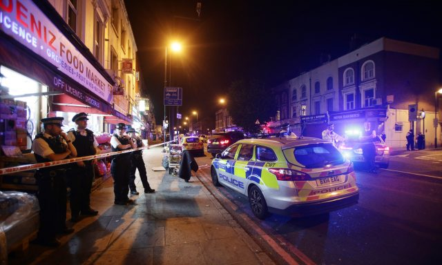 Vehicle strikes several pedestrians on road in London