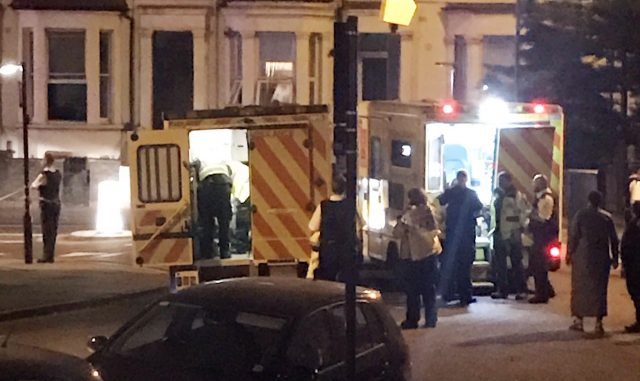 Van hits pedestrians in London