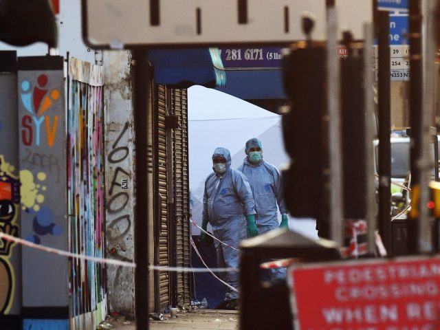 Police activity at the scene in Finsbury Park (Victoria Jones/PA)
