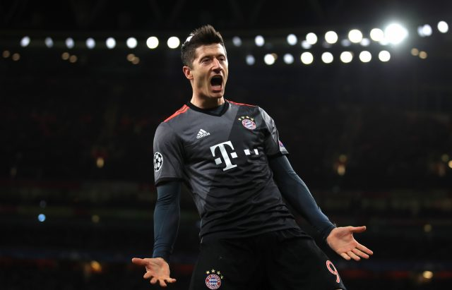 FC Bayern Munich's Robert Lewandowski