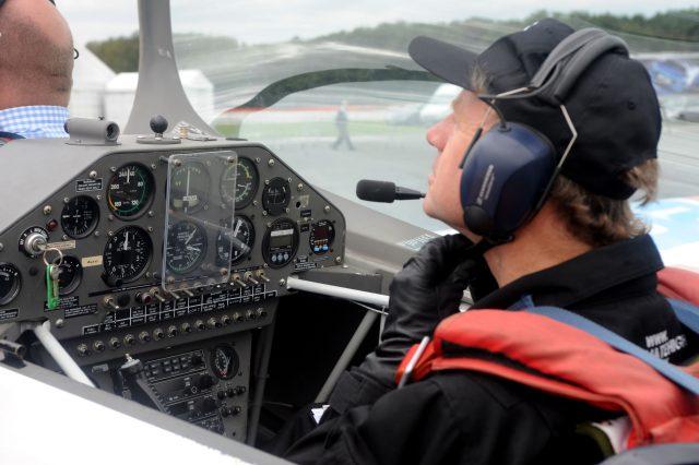 Pilot Andrew Hill. (Zak Hussein/PA)