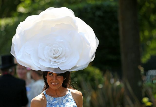 Racegoer Jackie St Claire during day one of Royal Ascot