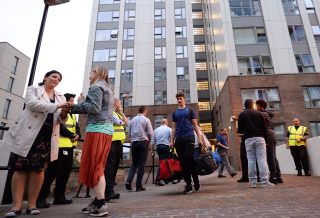 Hundreds evacuated from London towers as fire fallout widens