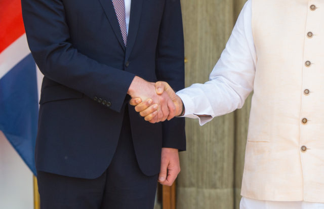 The Duke and Duchess of Cambridge meet Prime Minister of India Narenda Modi