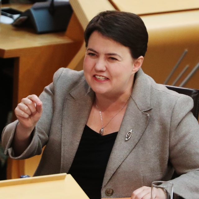 Scottish Conservative leader Ruth Davidson (Andrew Milligan/PA)