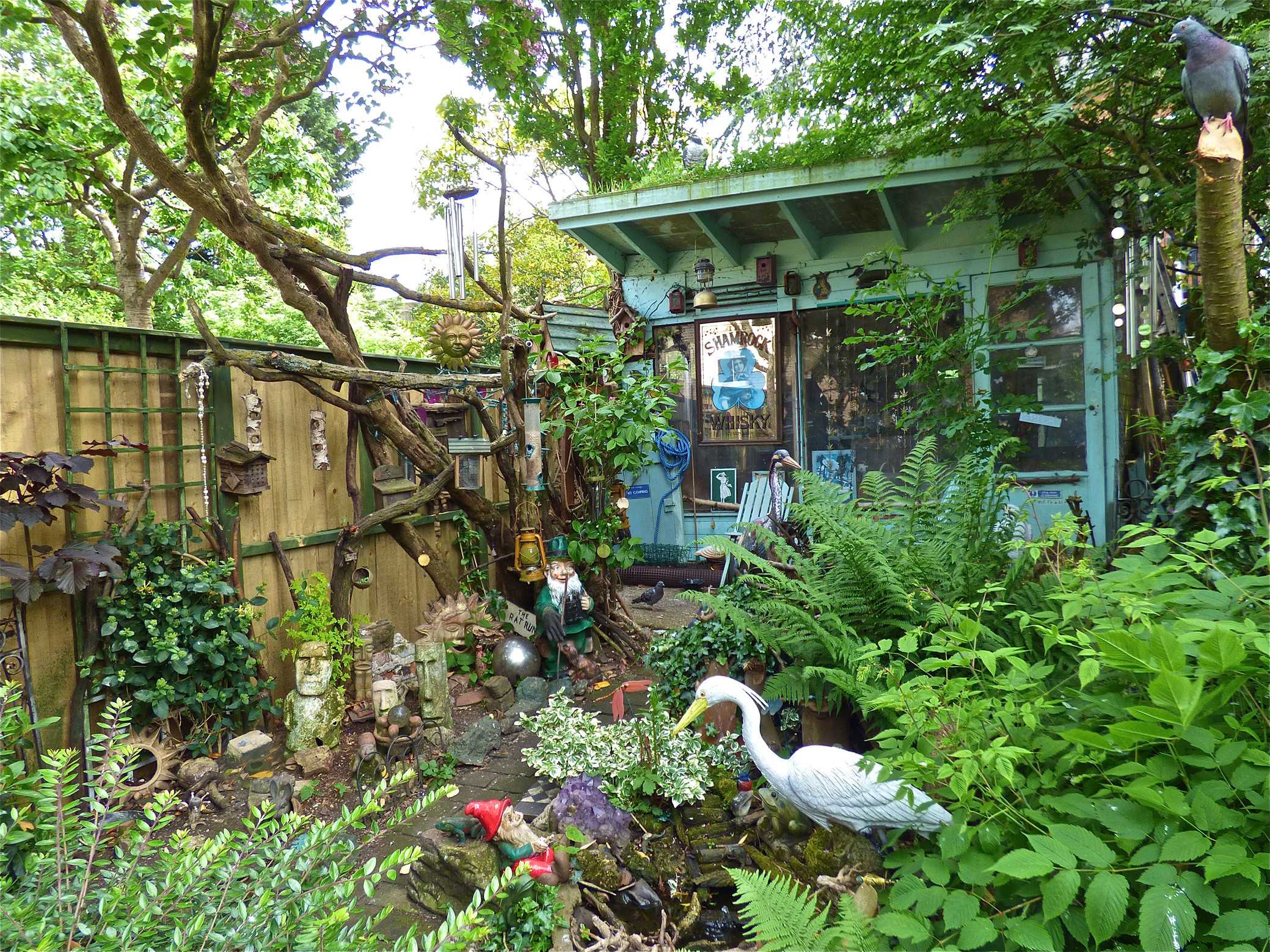 A 'ludicrous' garden (Bill Oddie/PA)