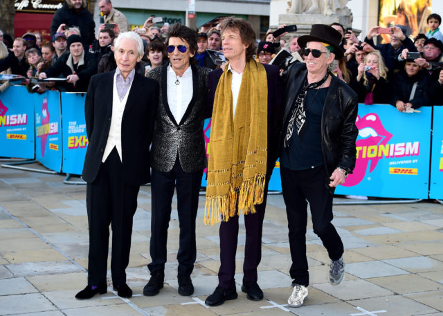 Sir Mick with the Stones in London last year.