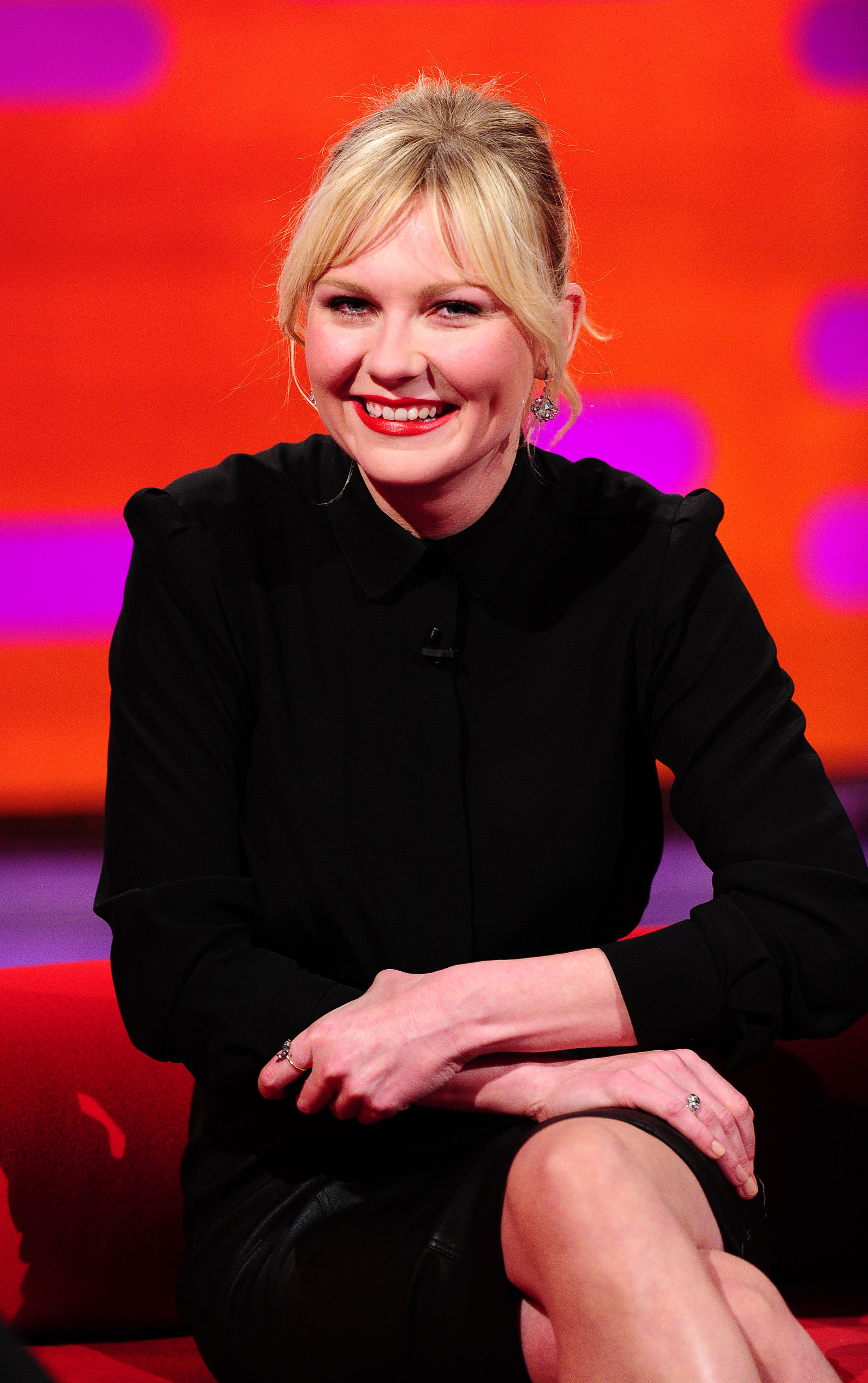 Kirsten Dunst during the filming of the Graham Norton show
