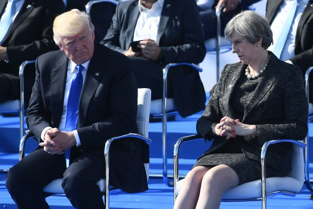 Theresa May's team on standby for visit by Donald Trump