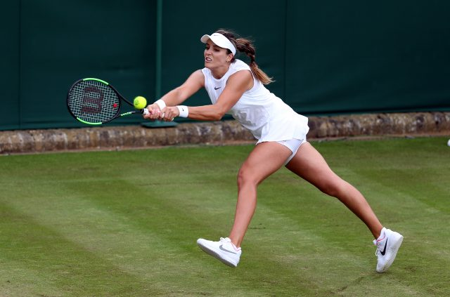 Laura Robson dropped her own serve in the first game and never recovered