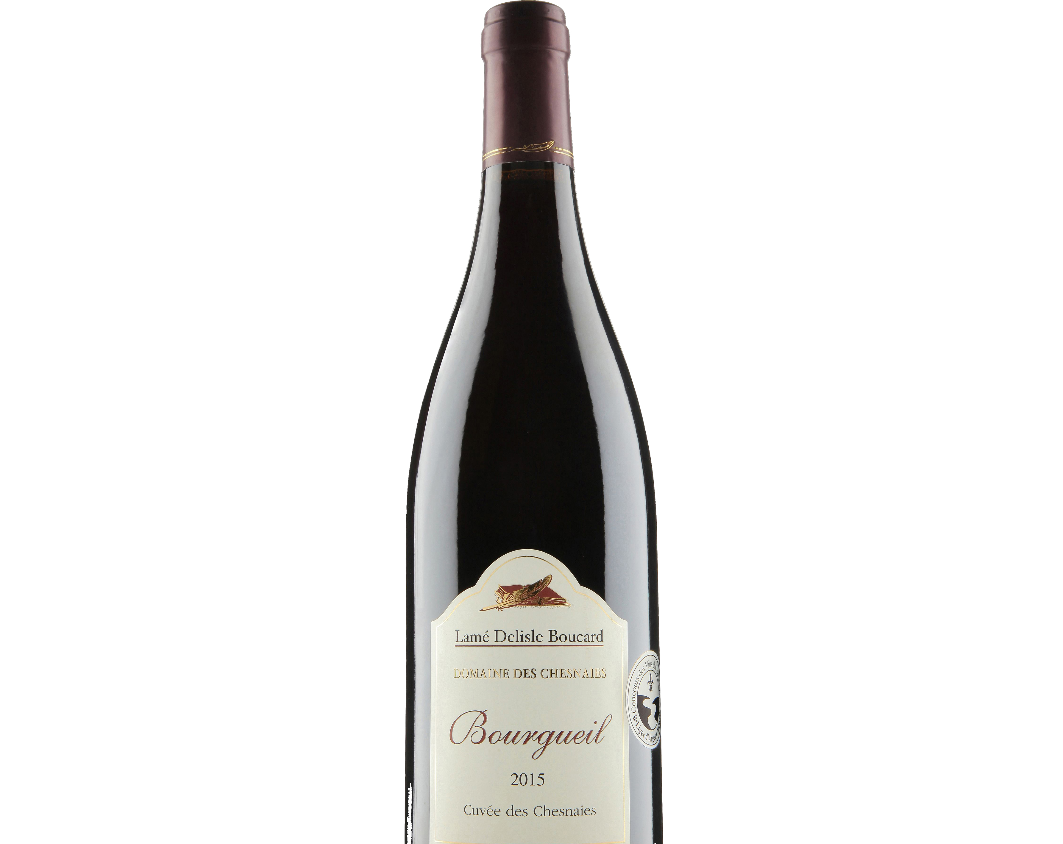 Bottle of Loire red wine