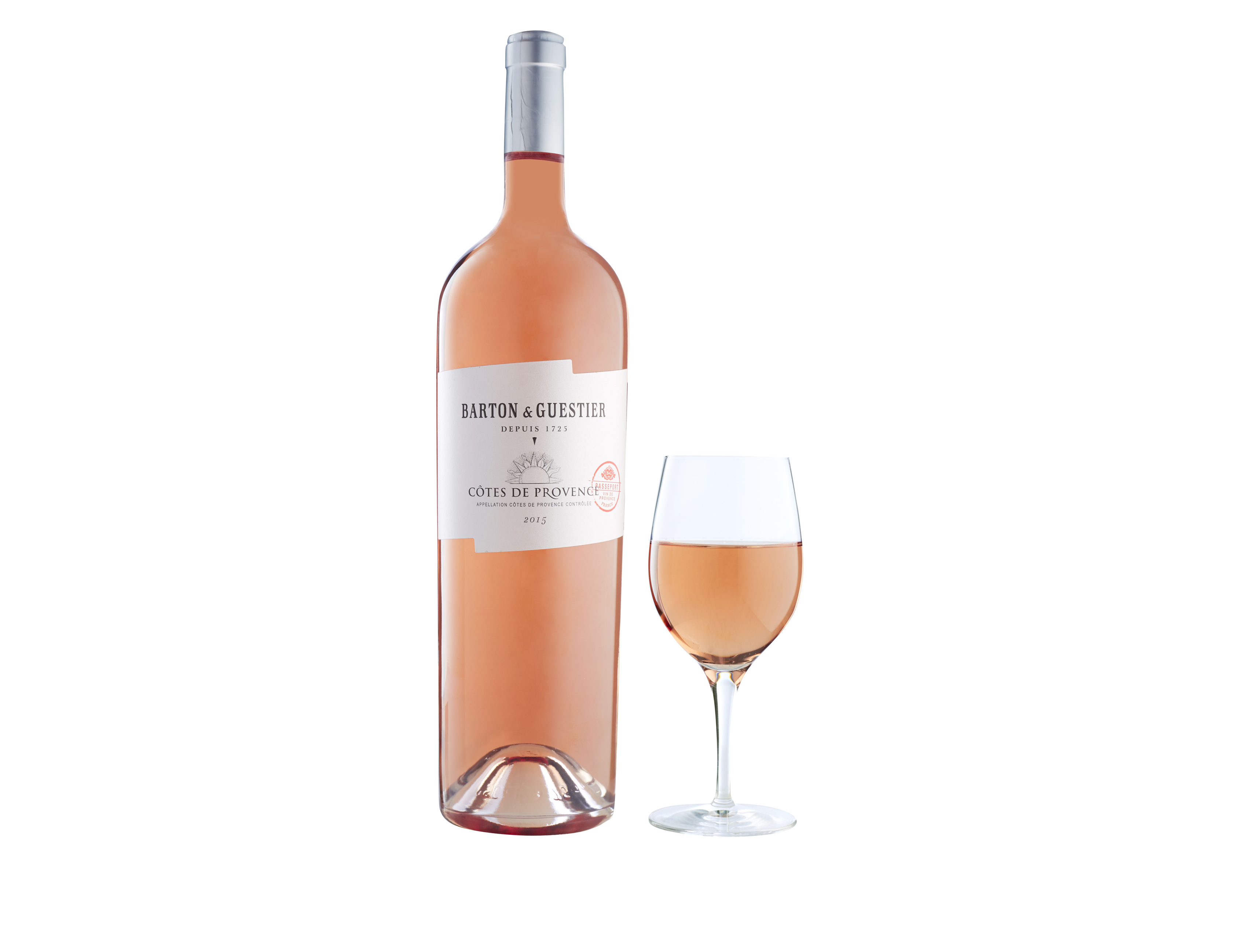 Bottle of Provencal rose