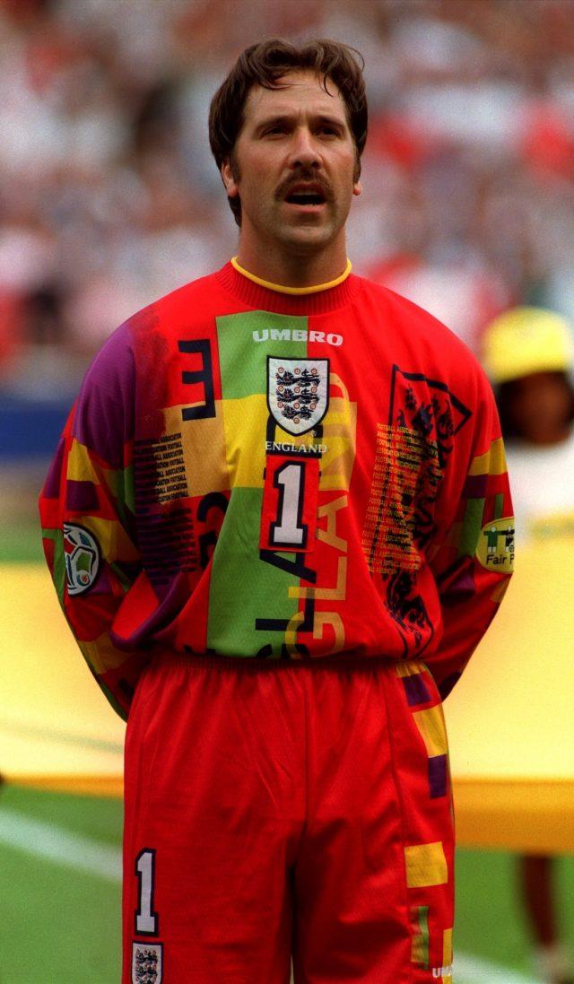 aaf0f477caa David Seaman s colourful kit failed to distract Germany