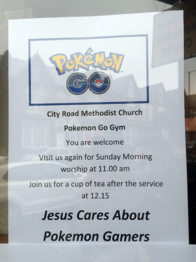 Church Pokemon Go notice