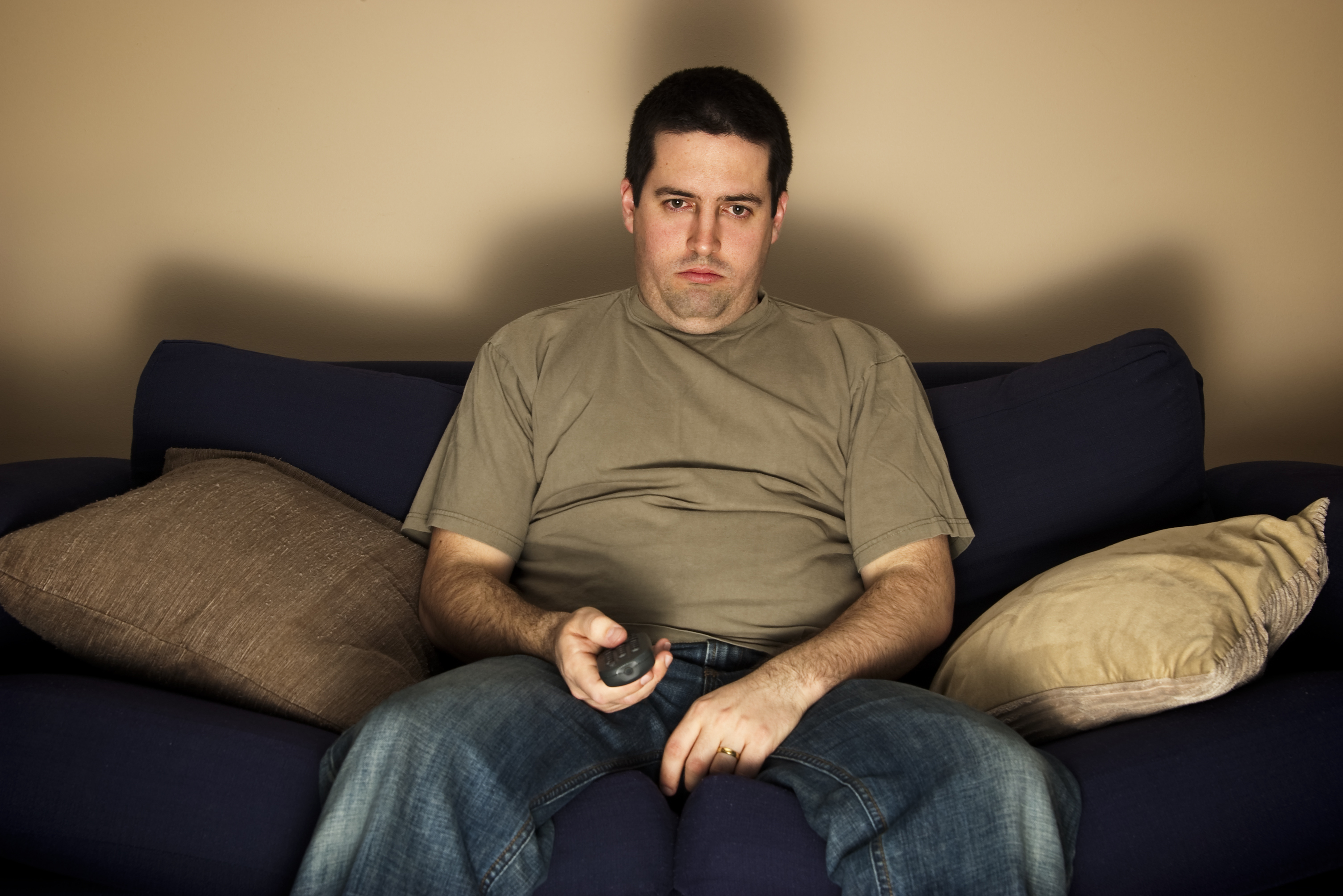 Generic photo of a man watching TV (ThinkStock/PA)