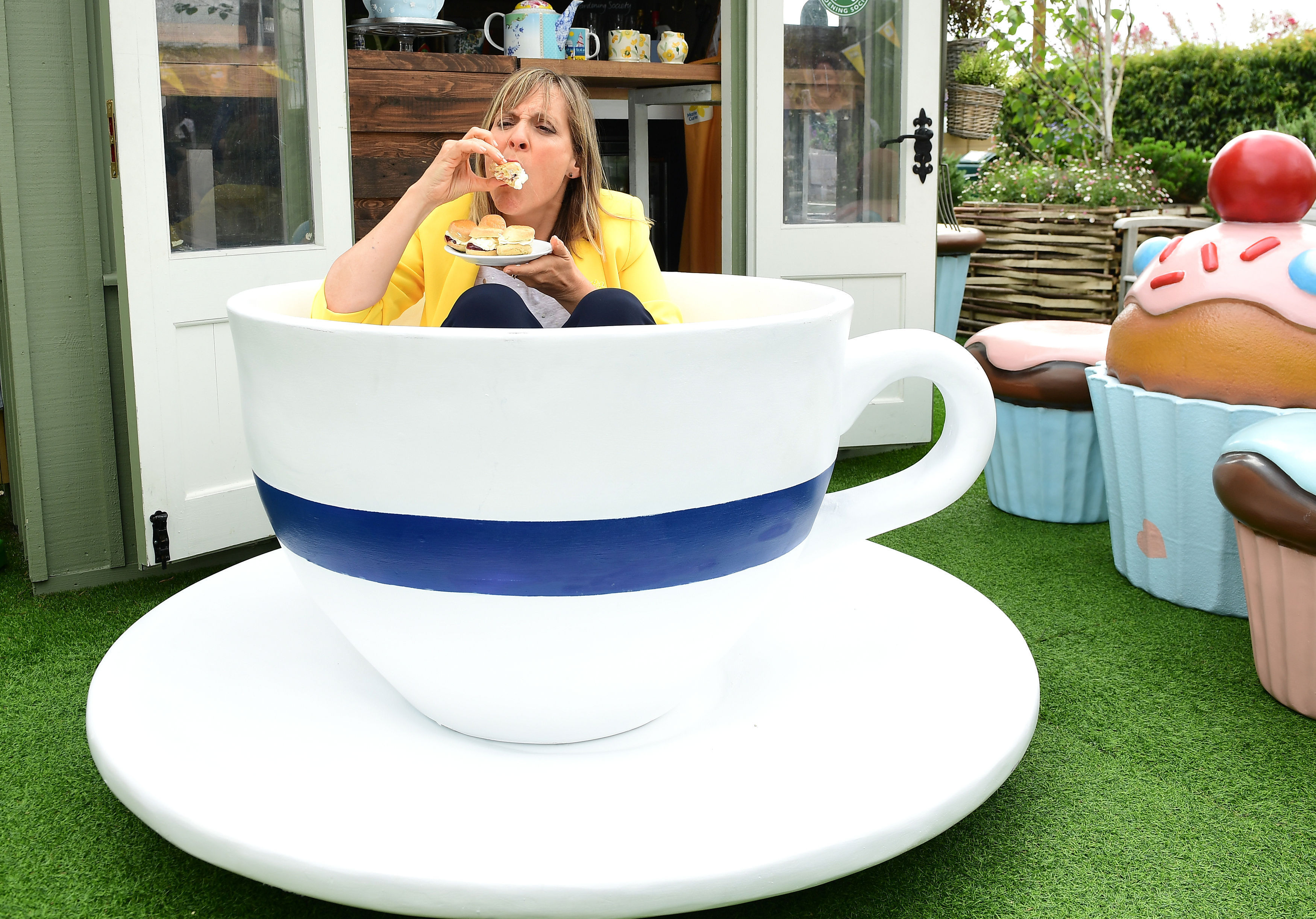 Mel Giedroyc launches the Marie Curie Blooming Great Tea Party fundraiser (Ian West/PA)