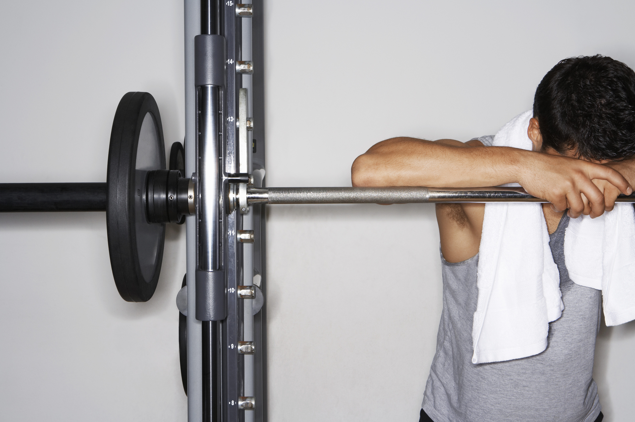 Generic photo of a man with set of weights in the gym (ThinkStock/PA)
