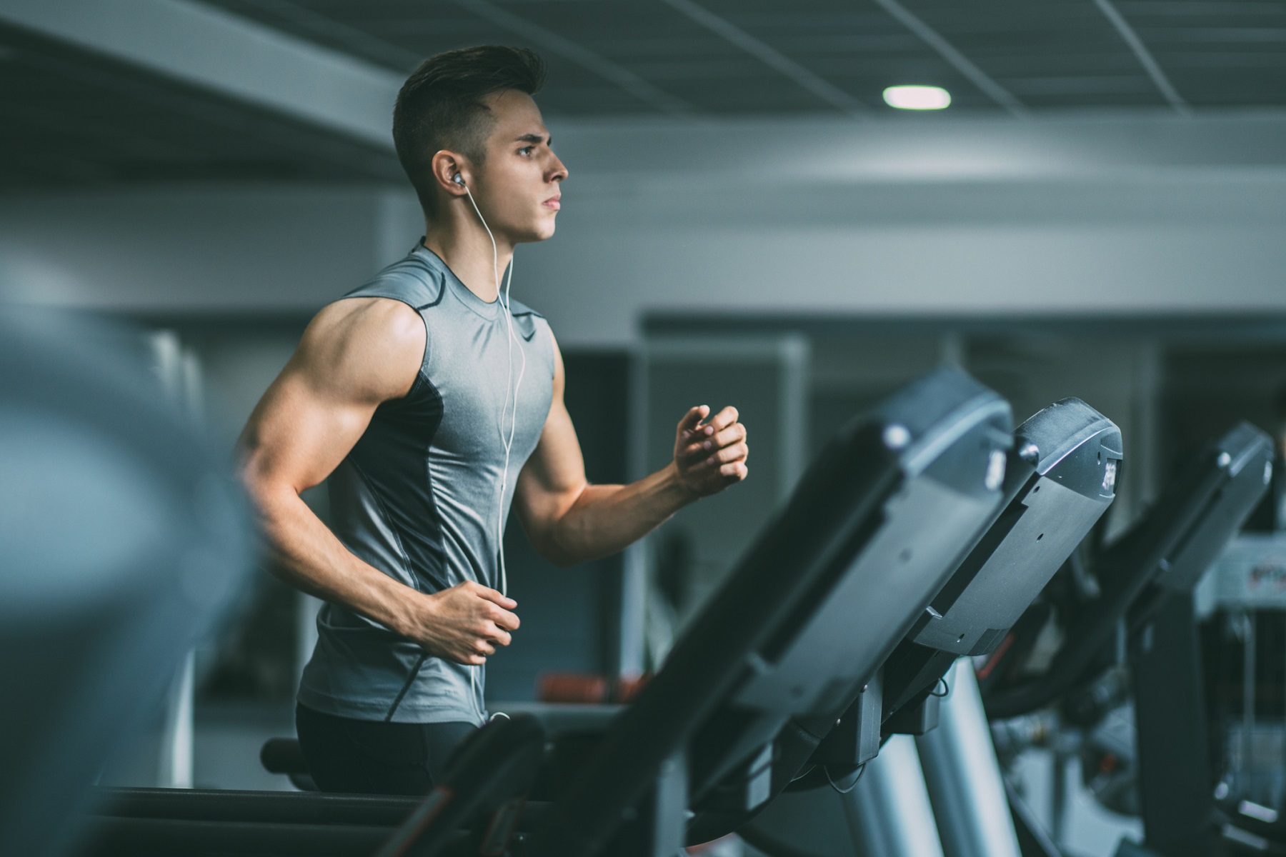 Generic photo of a man on a treadmill at the gym (ThinkStock/PA)