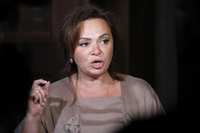 Kremlin-linked lawyer Natalia Veselnitskaya speaks to journalists in Moscow (Alexander Zemlianichenko/AP)