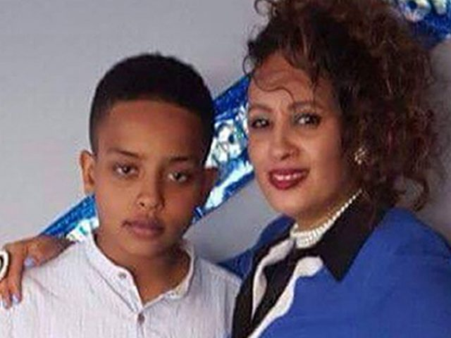 Berkti Haftom and her son Biruk (Family handout/PA)
