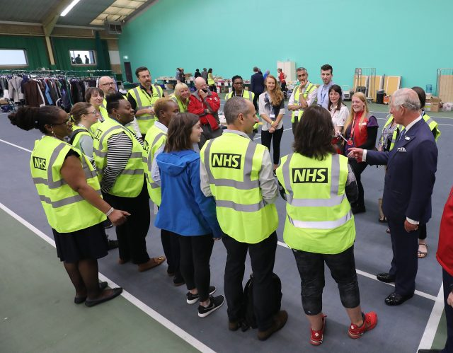 The Prince of Wales met volunteers at the Westway Sports Centre (Philip Toscano/PA)