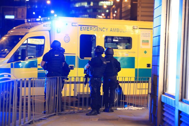 Police near Manchester Arena