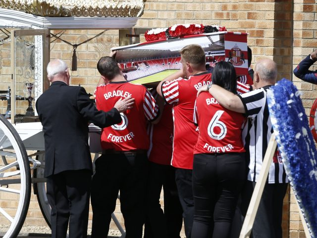How hundreds of mourners gathered for Bradley Lowery's funeral
