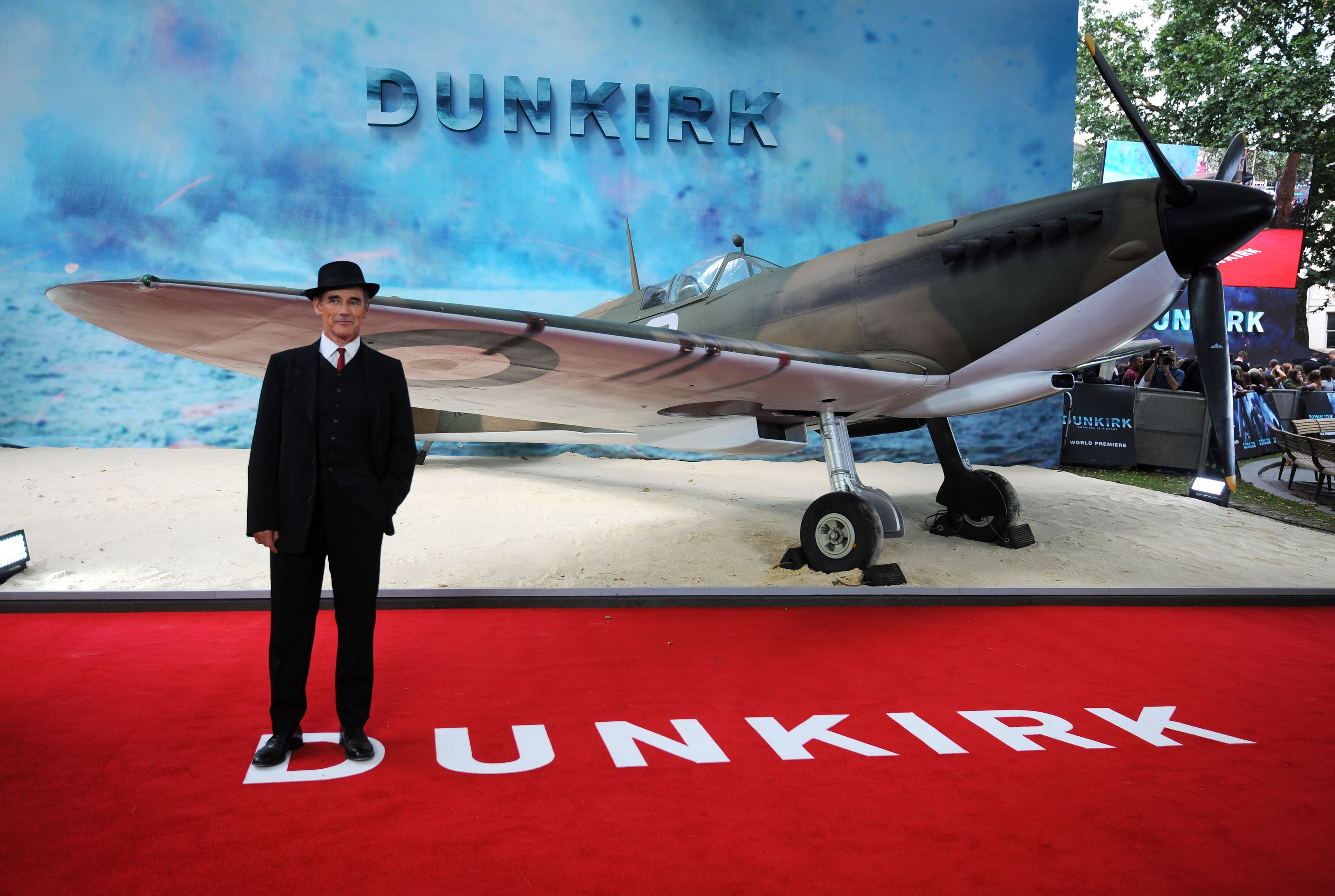 Mark Rylance attends the world premiere of Dunkirk at the Odeon Leicester Square in London.