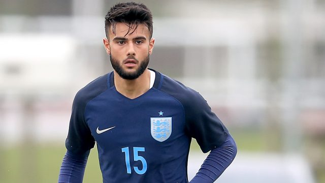 Easah Suliman opened the scoring for England under-19s against Portugal