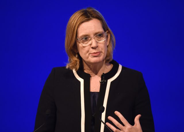 Amber Rudd announced an action plan to tackle acid attacks