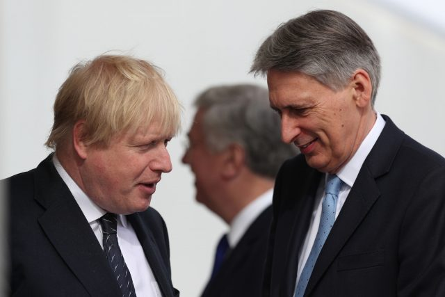 Mr Hammond is widely believed to be at odds with Foreign Secretary Boris Johnson