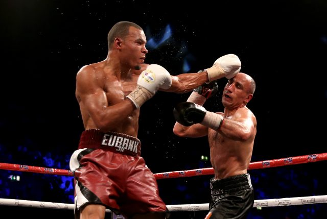 Chris Eubank Jr in action against Arthur Abraham