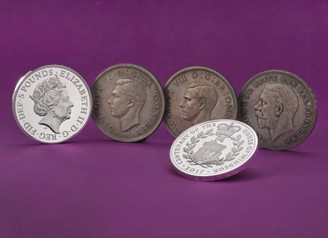 Coins featuring the portraits of monarchs of the House of Windsor