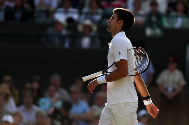Novak Djokovic retires from his match against Tomas Berdych
