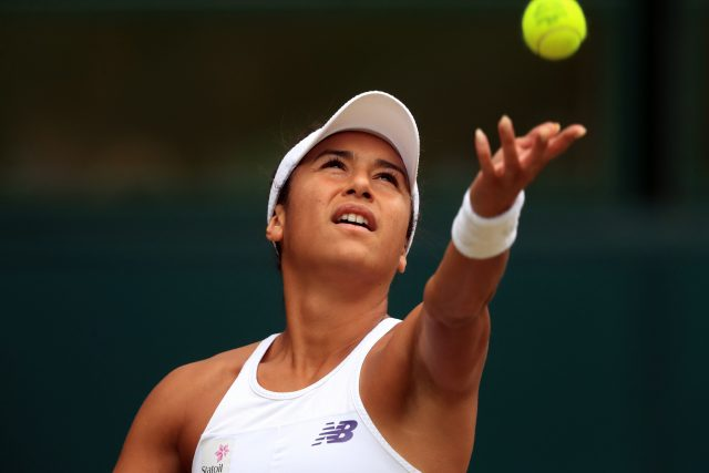 Heather Watson reached the third round