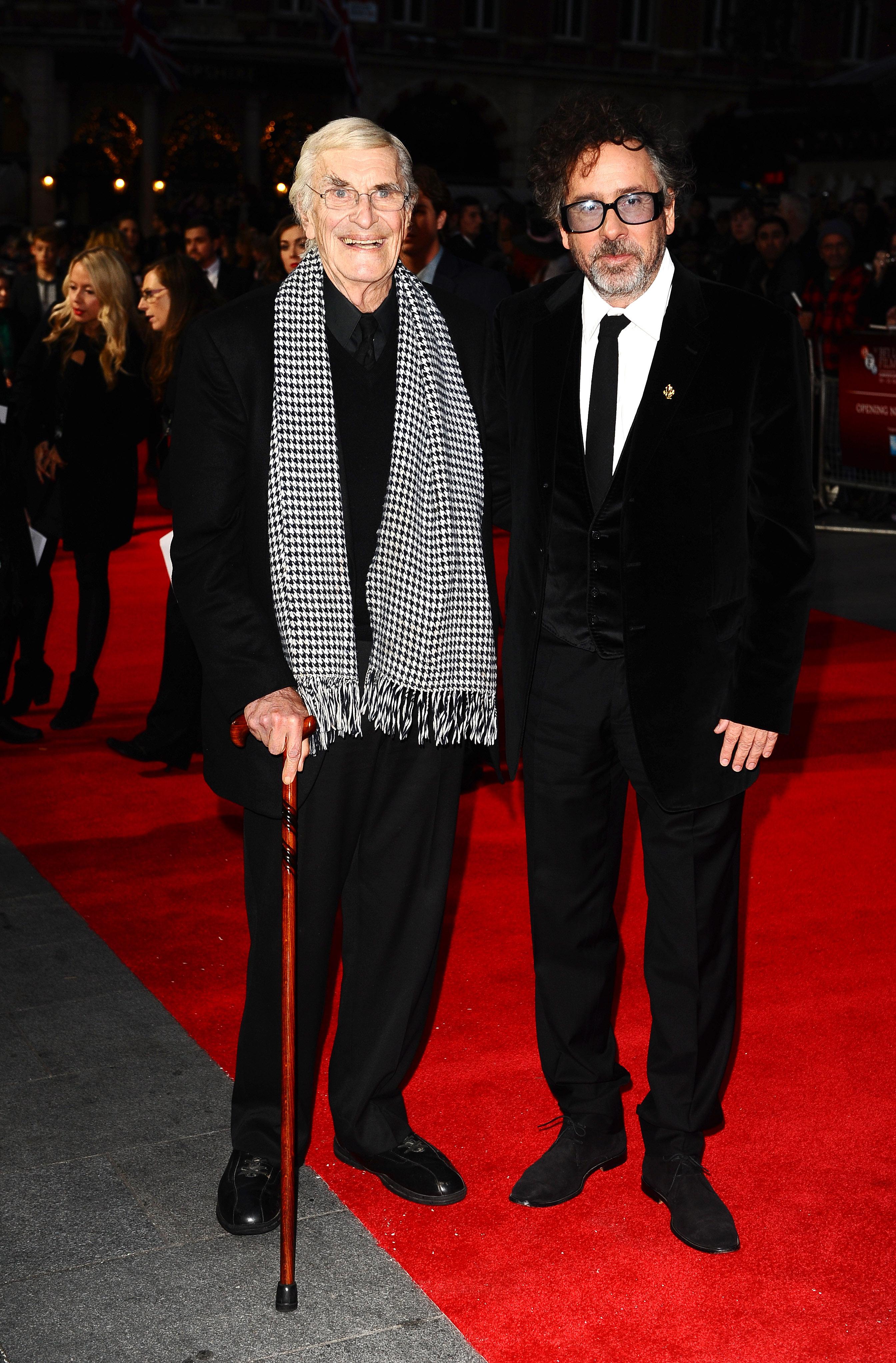 Martin Landau with Tim Burton
