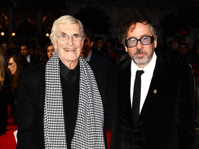 With Ed Wood director Tim Burton (Ian West/PA)