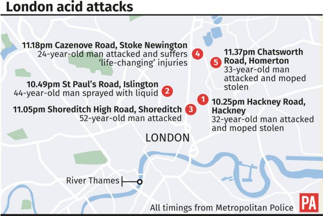 2nd teen arrested over acid attacks in London