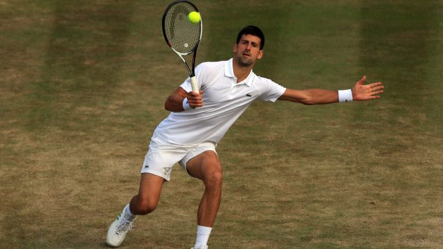 Novak Djokovic complained about the condition of the grass on centre court